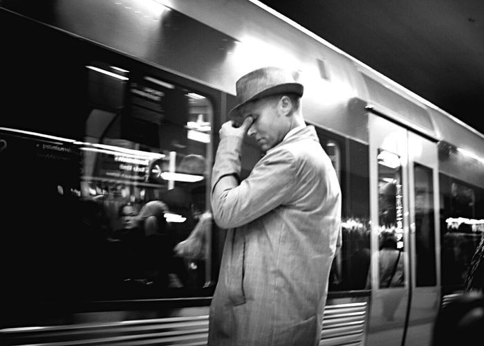 Moment of deep thoughts Mode Of Transport Real People Stockholm Public Transportation One Man Only Streetphoto_bw Public Transportation Streetphotography