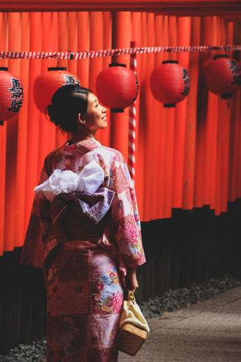 A beautiful summer day in red and pink (Kyoto, July 2014) EyeEm Best Shots EyeEm Gallery EyeEmNewHere Fushimi Inari Taisha Japan Japanese  Japanese Culture Japanese Style Japanese Temple YUKATA Adult Clothing Fushimi Inari Shrine Kimono Kyoto Lifestyles One Person Real People Red Standing Traditional Clothing Women Young Adult Young Women Urban Fashion Jungle Summer In The City Moments Of Happiness