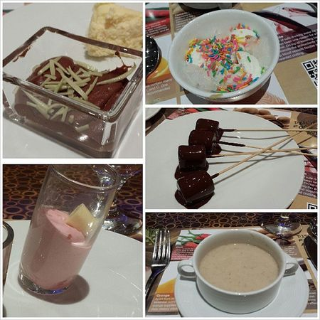 Buffet dinz with the fam to celebrate Batuma's birthday. All the main dishes just went into me without the pics, here's the desserts and fave soup (; Being such a glutton ;( Foodporn Glutton Whatsdiet Tryinghard