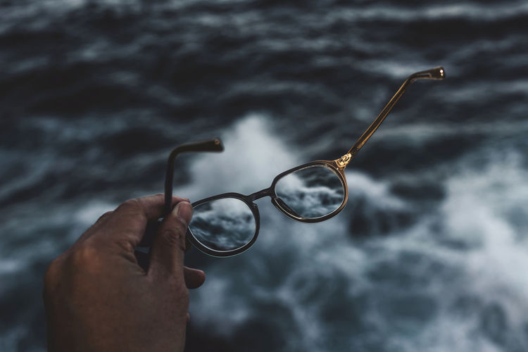 Blind Blur Blurry Bokeh Calm Chaos Eyes Eyesight Glasses Hand Holding Light Male Ocean Ocean View Ocean Views Sea Sight Spectacles Waves Social Advertising Collection