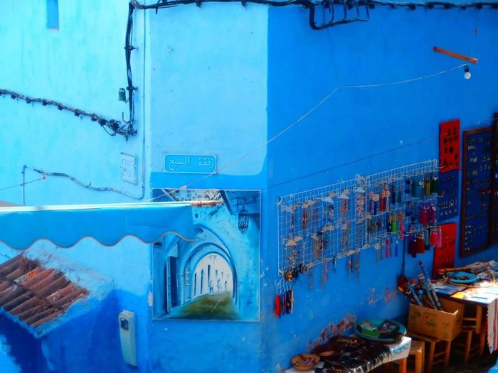 "Lovely city of chefchaoun ""the blue city in the mountain "" . Chefchaouen Morocco Beautiful City Street History Arch Hope.✌ Faith Day Architecture Built Structure Outdoors Door No People Dream Real Life مدينتي شفشاون مغرب الريف Flying High Blue Bluesky Bluecity Millennial Pink"
