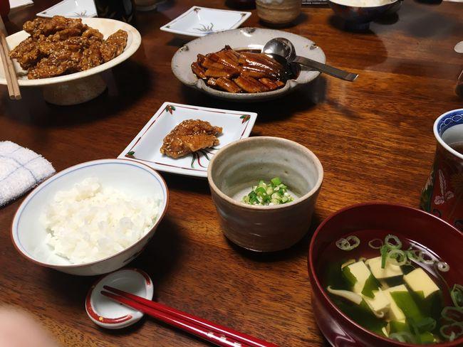 努努鶏と鰻(*´ω`*) 努努鶏 Eel Chiken Dinner Dinner Time Yumyum( ˙༥˙ ) Delicious Taking Photos