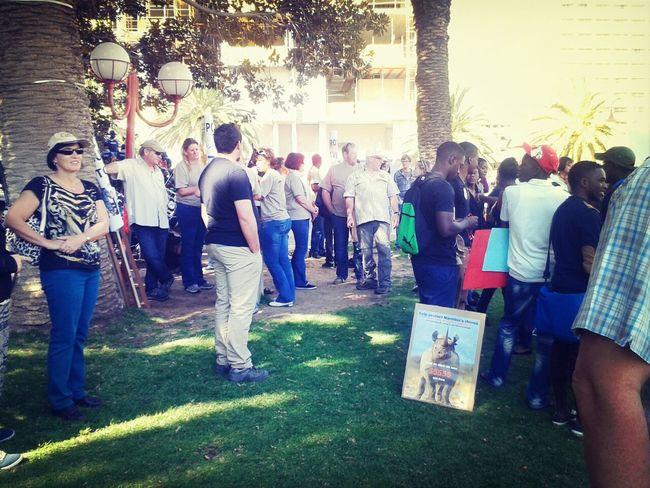 Protest anti Wildlife poaching Today!