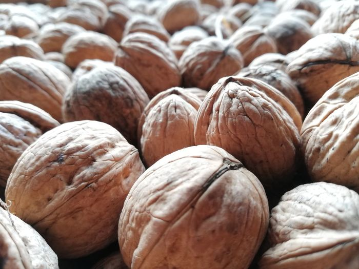 Full frame shot of shell of nuts for sale