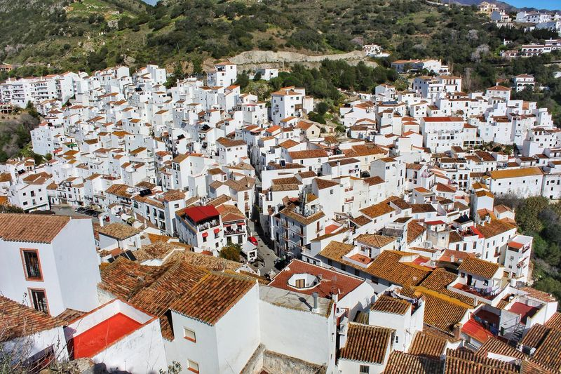 High Angle View Of Spanish Residential District