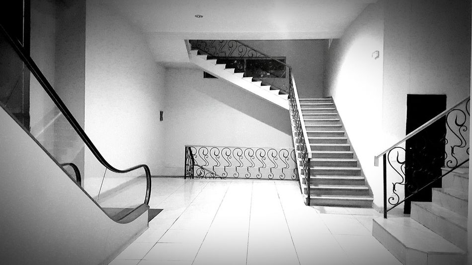 Architecture Stairs Elevator Scene Viewpoint Lift Empty Indoor Black And White EyeEm Tbilisi Georgia Way Options Didube Didube Market EyeEm Best Shots Best Of Stairways Interior Views Lean & Shoot: Balencing Elements Telling Stories Differently My Favorite Photo The Architect - 2016 EyeEm Awards Minimalist Architecture Let's Go. Together.