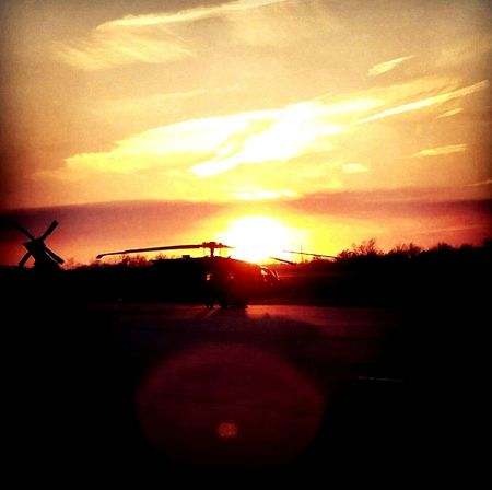 43 Golden Moments Military Helicopter Sunset Beautiful Golden
