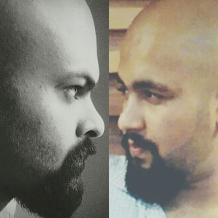 Me With Old Roommate New New Pics  Taking Photos Relaxing Check This Out Hello World Beard Bald Unknowingly Vintage POSEE ✌ Taking Photos
