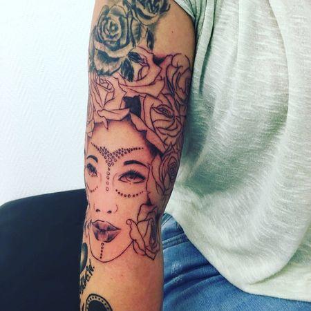 Frenchartist Tattoo Art, Drawing, Creativity African Beauty Nubian Queen Tattoos