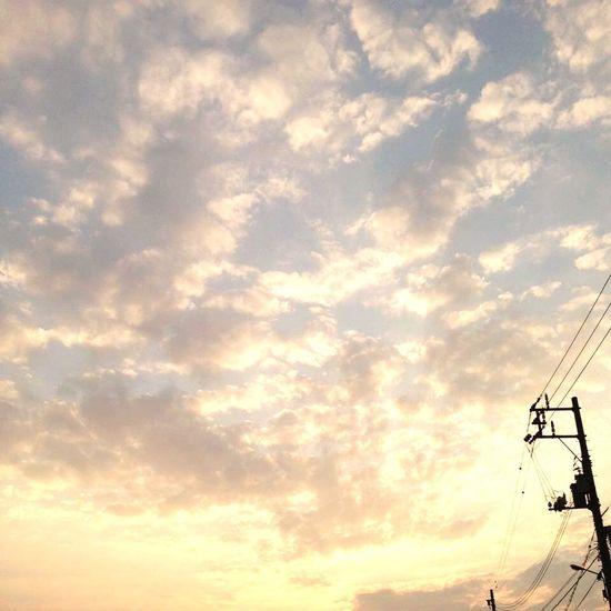 Evening 夕方 Sky 夕焼け空