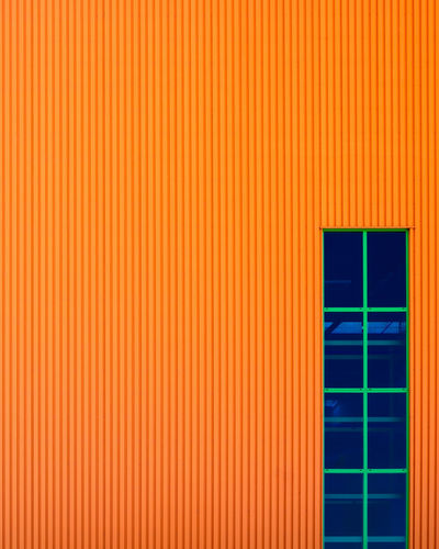 Orangething Fujix_berlin Ralfpollack_fotografie Minimalism Minimalist Photography  Architecture Built Structure Wall - Building Feature Pattern Backgrounds Orange Color No People Building Exterior Full Frame Copy Space Day Multi Colored Outdoors Close-up Building Striped Window