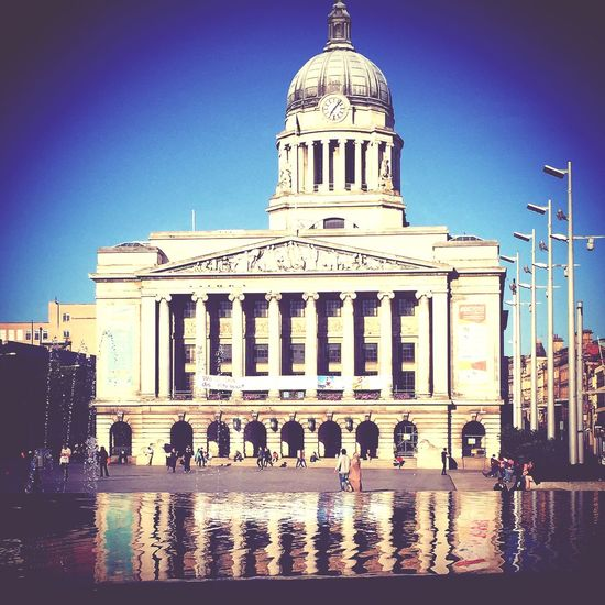 Nottingham City Council House in Market Square Nottingham Water Fountain Chilling Followme Enjoying Life Kick Me Friends First Eyeem Photo Random Snaps