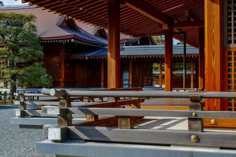 Jonangu Kyoto Japanese Shrine Japanese Architecture Taking Photos EyeEm Best Shots EyeEm Gallery From My Point Of View The Week on EyeEm Architecture Built Structure Building Exterior Wood - Material No People Religion Architectural Column Building Spirituality Tranquility Roof
