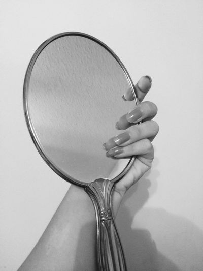 #mirror#hands#fingers#nails#dream#blackandwhite#intuition#reflection#clear#wrist#arm#holding#palm#angle#photo