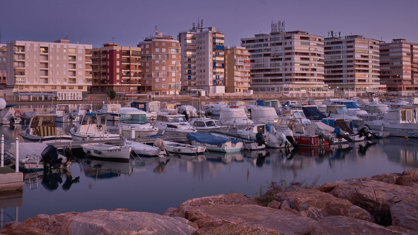 SONY A7ii Nachtaufname Himmel Spiegelung Nachtfotografie Spanien Architecture Beach Building Exterior Built Structure Clear Sky Day Harbor Mittelmeer Mittelmeerfeeling Mode Of Transport Moored Nautical Vessel No People Outdoors Reflection Sea Sky Transportation Travel Destinations Water Yacht