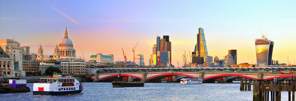 Architecture Cityscape Travel Destinations Business Finance And Industry City River Built Structure London Thames River St Paul's Cathedral Cheesegrater Blackfriars Business Money Wealth Rich Posh Postcode Postcards Colour Your Horizn