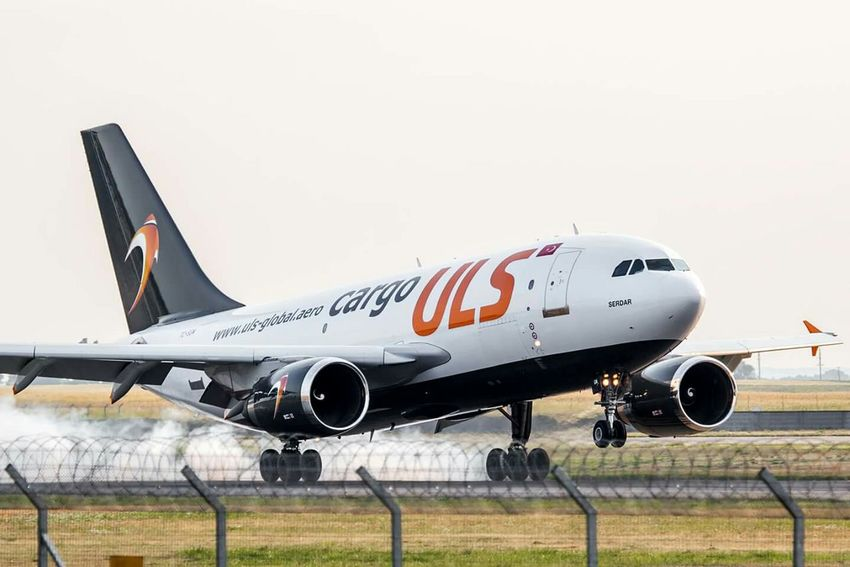 Airbus A310-308.Turkish ULS company. New color. Airport Landing