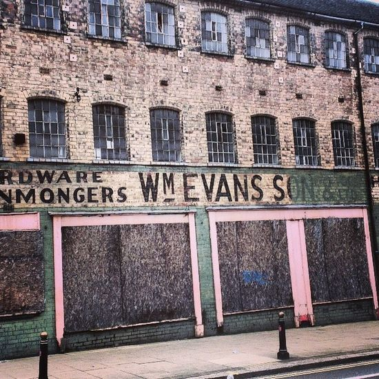 W M Evans & Son. Ghostsign Wolverhampton