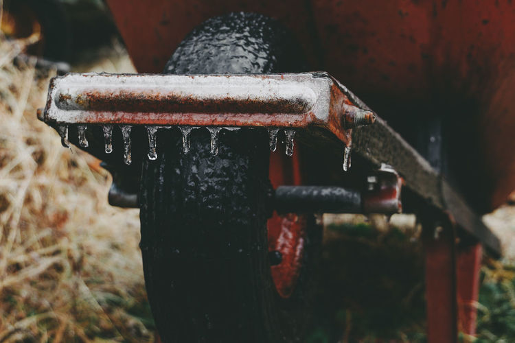 Frozen in time. Icicles dripping off of an old rusty wheel barrow in the back yard. See more: Instagram.com/LostBoyMemoirs BLOG: Lostboymemoirs.com Abandones Fashion Frozen Ice Icicles Industrial Outdoors Red Russia Rustic Snow Tools VSCO Vscocam Winter Winter Wonderland