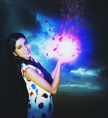Rishika, glow, Magic Ball,long Hair, Model Beauty Young Girl,fantasy
