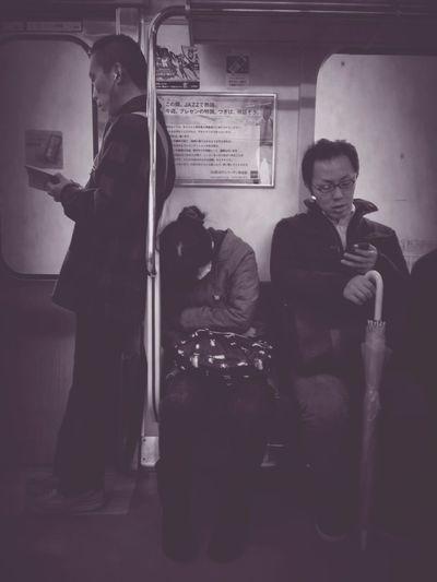 People Watching Commuting Monochrome Commuter Style