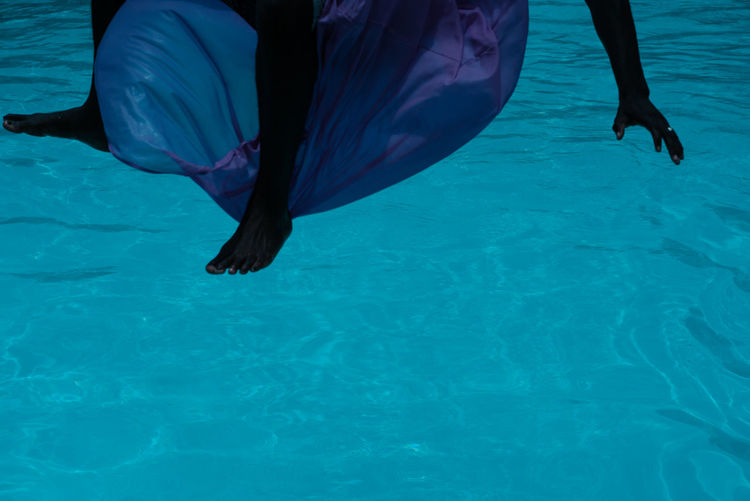 Levitate!! TheWeekOnEyeEM barefoot Blue Body Part Day Human Body Part Human Foot Human Leg Human Limb Leisure Activity Lifestyles Low Section Nature One Person Outdoors Real People Sea Swimming Pool Trip Underwater Water Waterfront