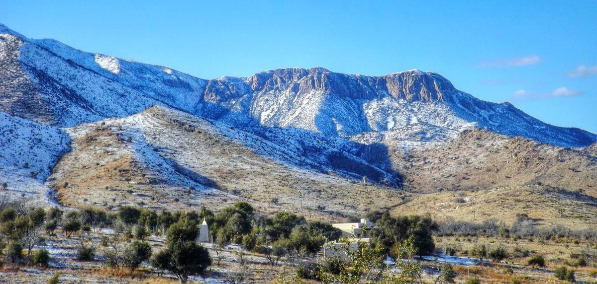 Mountains Huachuca Mountains Arizona Desert Beauty Valley Winter Scene