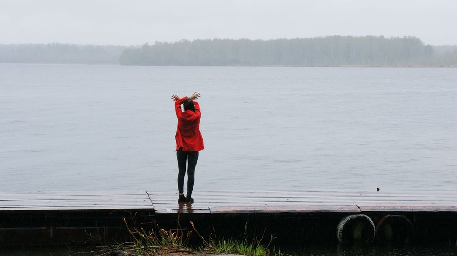 Summertime Red Lake View Ekaterinburg Forest Beautiful Nature Russia