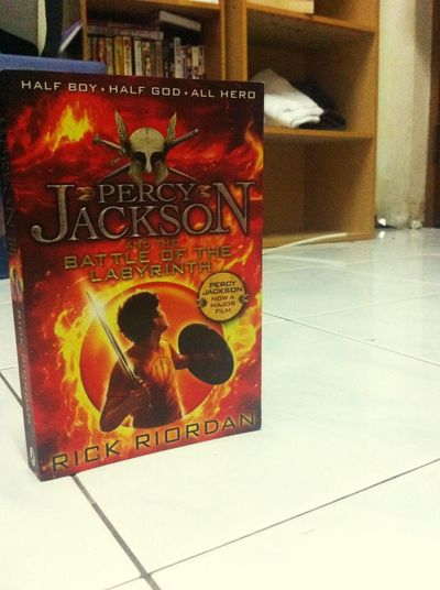Percy Jackson and the battle of labyrinth. Fourth installment of the Percy Jackson series. Time to read it. Rick Riordan master of the myth Great Deals Percyjackson Rickriordan Novels Battleofthelabyrinth Fourth Installment Series Master Mythology Demigods