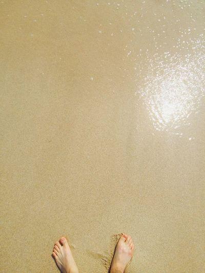 대천해수욕장 보령 대천 발셀카 발 모래사장