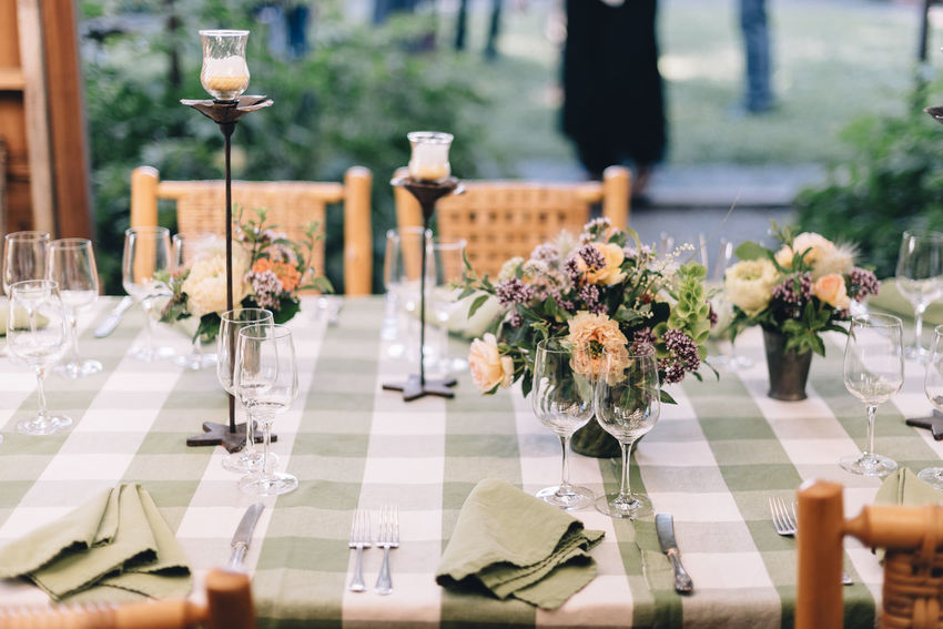 wedding day. good food. freshness Bouquet Celebration Centerpiece Close-up Day Drinking Glass Elégance Flower Flowers Focus On Foreground Freshness Green No People Place Setting Table Table Top Vase Wedding Wineglass