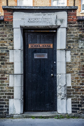 Architecture Backdoor Black Brick Brick Building Brick Wall College Day Daylight Door House Keeper London Old Buildings Old Fashioned Retro School Southwark  Street Photography Streetphotography Vintage Postcode Postcards