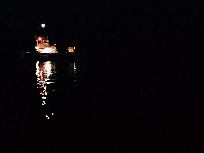 Night Ship Reflection Mystery