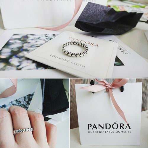 The gift from my beloved one <3 Gift Pandora Pandora Ring Jewelry Silver  Stars