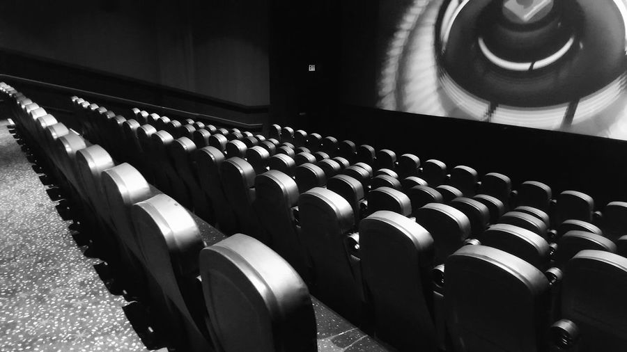 Black And White Vacant Theater Photography Theater Quiet Moments Getting Away From It All Getting Away Big Screen Empty Seats Where Is Everyone