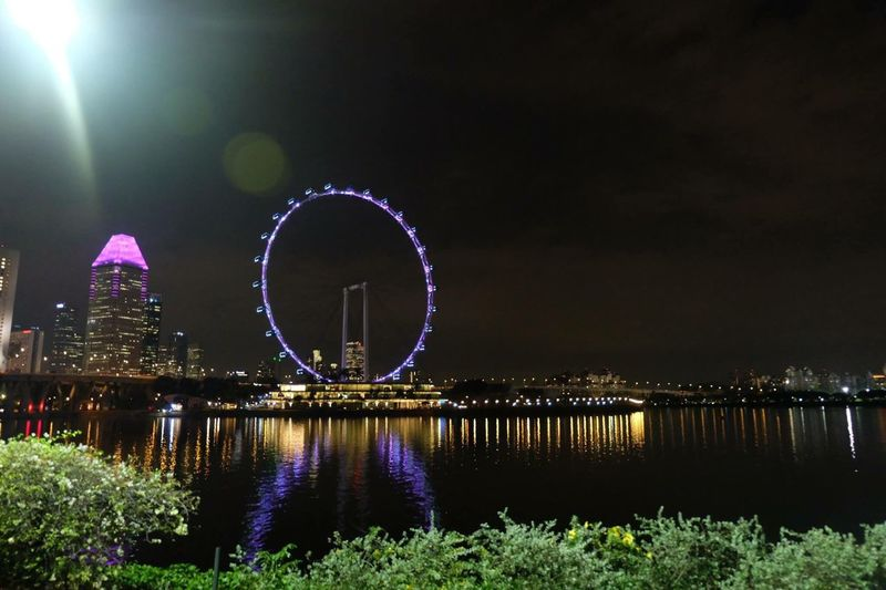 Illuminated Night No People River Architecture Outdoors The Eye of ASEAN