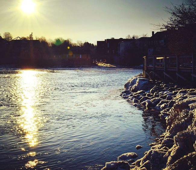 Water Architecture Sunlight Nikon Outdoors Exeterriver Exeter NH Bornandraised Sunrise