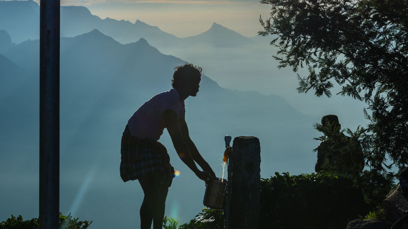 Beauty In Nature Clear Sky Hiker India Kerala Leisure Activity Mountain Mountain Peak Mountain Range Munnar Nature Non-urban Scene Outdoors Outline Scenics Silhouette Silhouette Sky Tranquil Scene Tranquility Valley