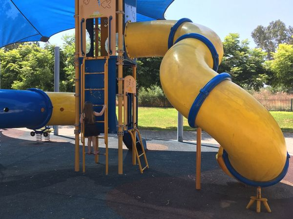 Playground Outdoor Play Equipment Day No People Outdoors Blue Childhood Tree Close-up