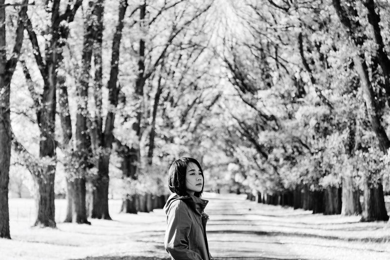 Blackandwhite Travel People One Person Tree Leisure Activity Plant Child Women Lifestyles Real People Day Land Childhood Nature Portrait Warm Clothing Winter Clothing Side View Beauty In Nature Females Standing The Portraitist - 2019 EyeEm Awards The Traveler - 2019 EyeEm Awards