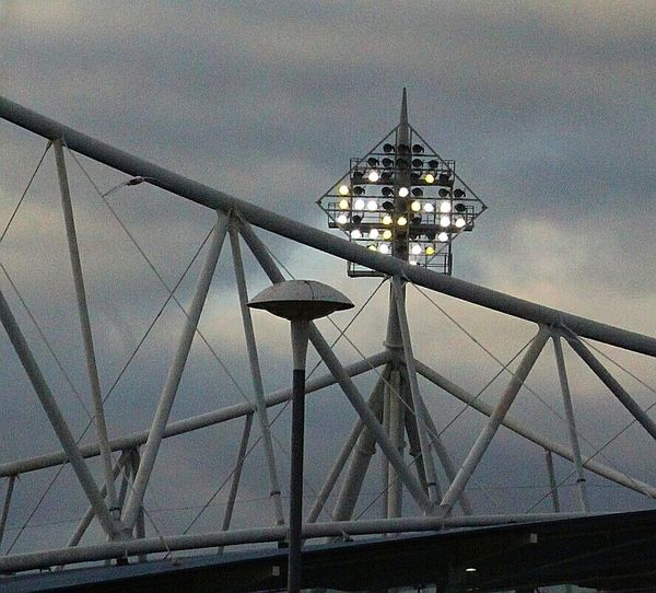 Stadium Lights City Sky Low Angle View Arts Culture And Entertainment No People Architecture Built Structure Outdoors Day Close-up Bolton Wanderers Cellphone Photography
