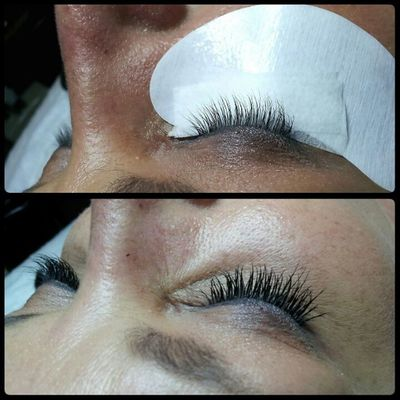Before and After Novalash! Lashextensions Novalash Simplebeautylashspa