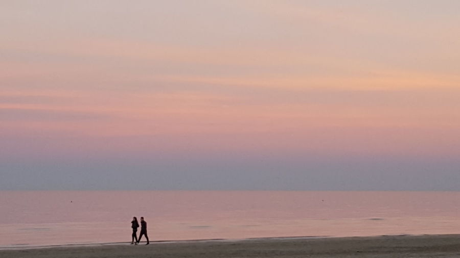 We Sunset Landscape Beauty In Nature Sky Nature People Senigallia Italy Millennial Pink Pink Pink Color Pinksky Pink Hair