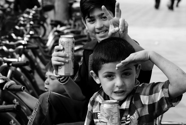 They are having fun... Urban Lifestyle Streetphotography Streetphoto_bw Blackandwhite Sony A330 EyeEm Best Shots - Black + White The Human Condition Children Children's Portraits Celebrate Your Ride