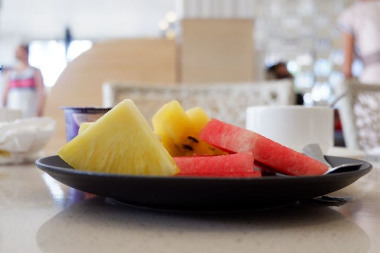 Fresh fruits from Tropical Country Food And Drink Table Still Life Freshness SLICE Watermelon Serving Size Pineapple Dessert