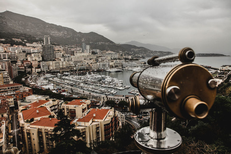 Monte-Carlo view Monaco Monaco Montecarlo Magiccity Urbancity Monacolife Cityscape Business Finance And Industry No People Mountain City Travel Destinations Architecture Coin-operated Binoculars Building Exterior Mobility In Mega Cities