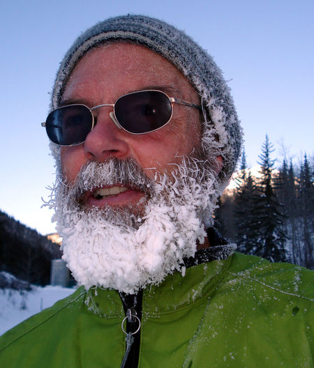 Male, outdoorsman, frosted beard Frosty Frosty Beard Happiness Mountain Life Outdoors Snowy Days... Sunglasses WhiteCollection