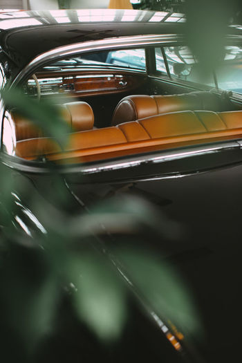 Close-up of car windshield
