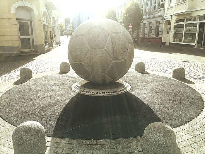 Architecture Fotball Fever Fussball Monument German Soccer Stone Ball BMG Borussia Mönchengladbach