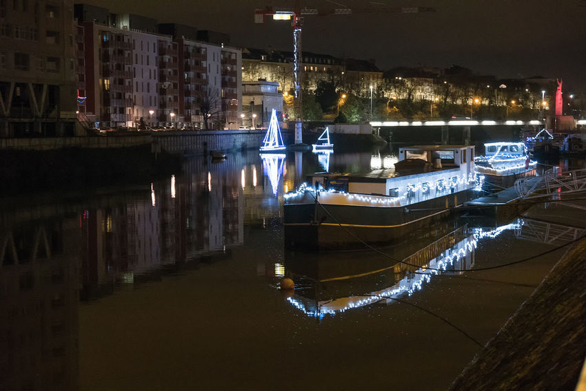 Architecture Building Exterior Built Structure City Illuminated Mode Of Transport Moored Nautical Vessel Night No People Outdoors Transportation Water Waterfront